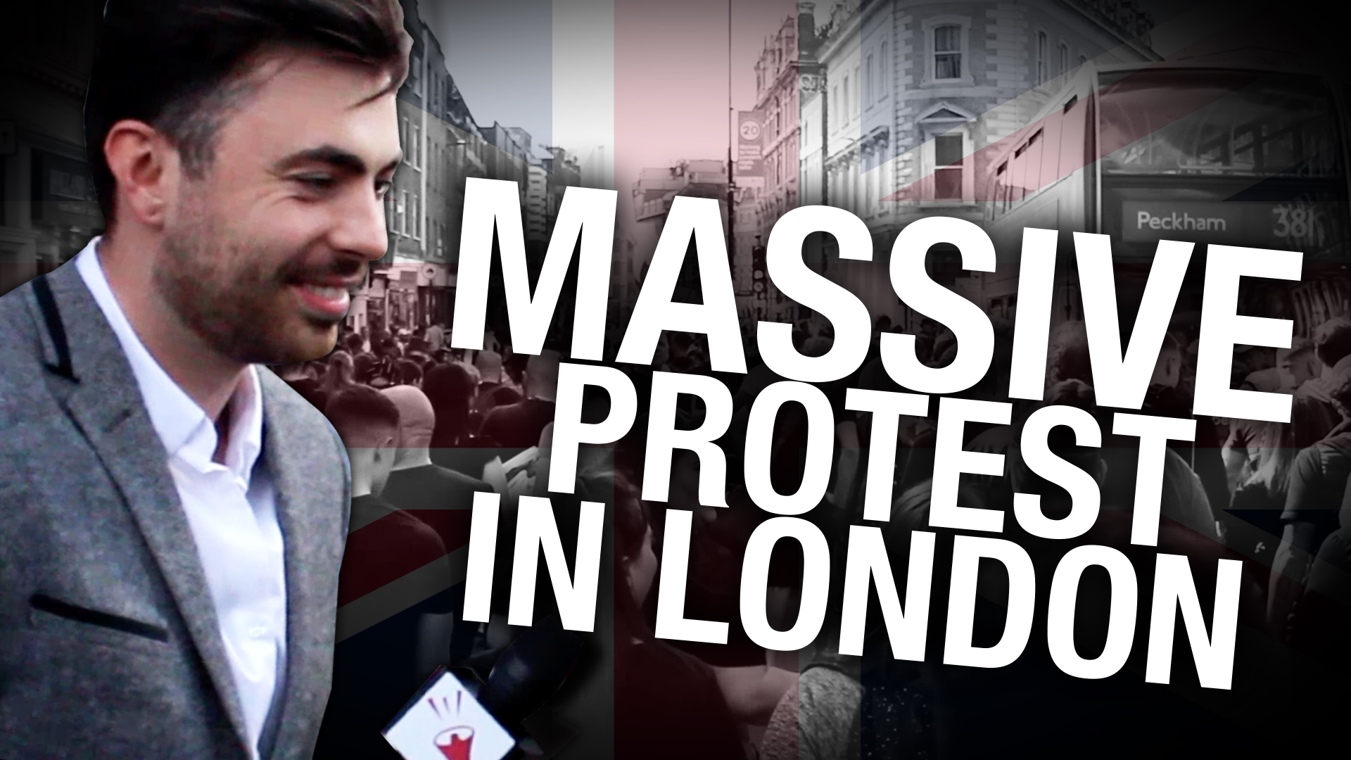 Protesters march in Central London against UK vaccine legislation