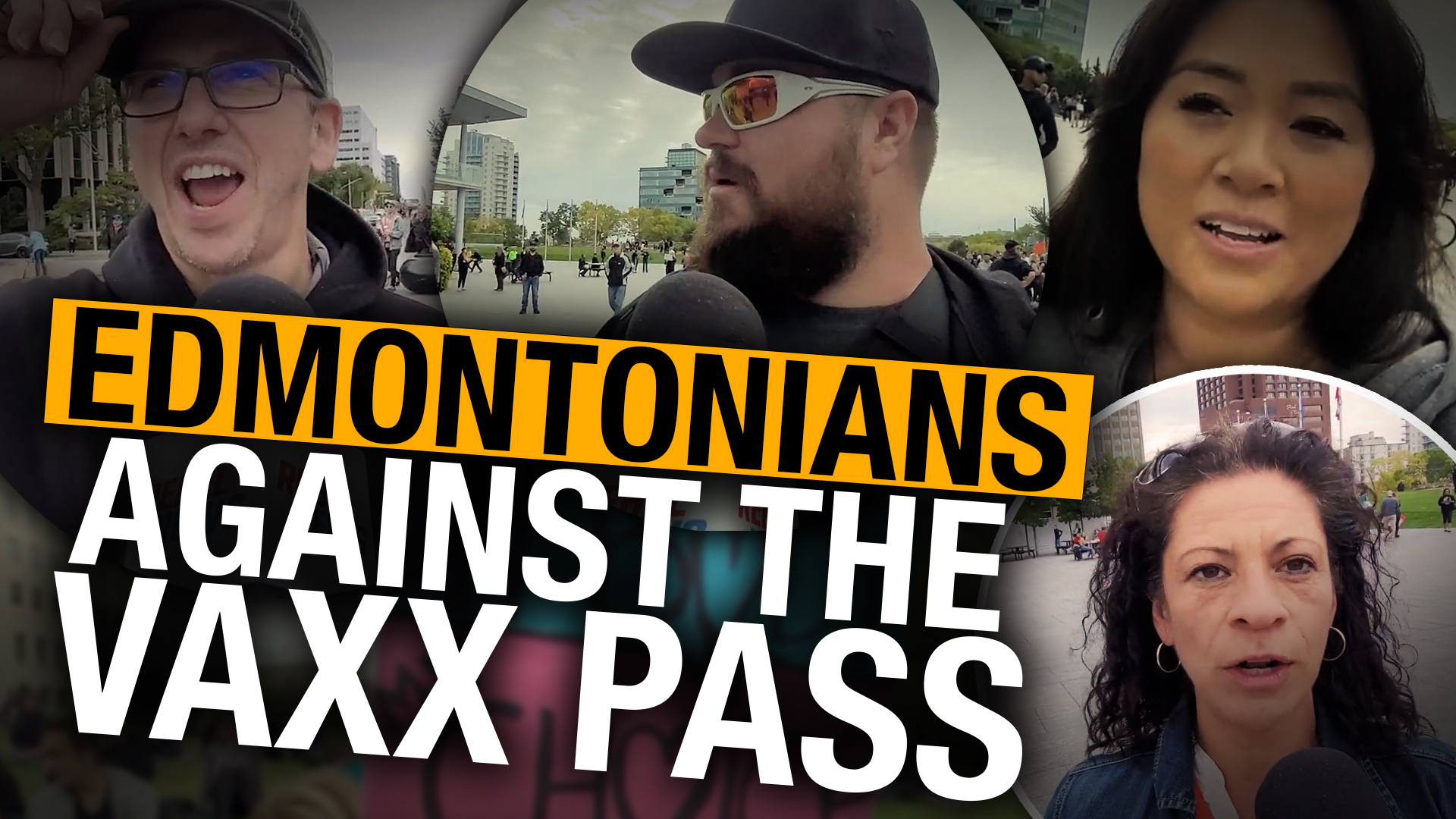 """Edmonton protesters """"want freedom of choice"""" after Kenney releases vaccine passport"""