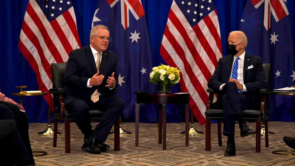 Prime Minister Morrison and President Biden meet at UN Assembly
