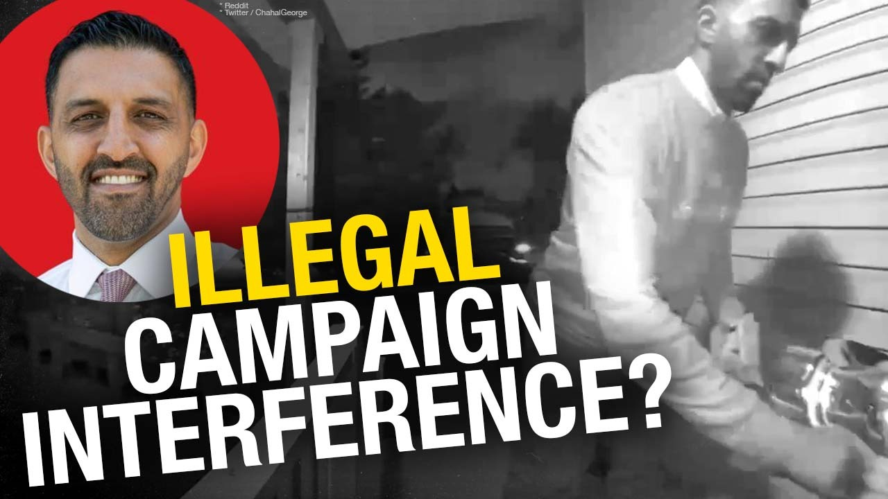 Liberal MP-elect George Chahal under fire after doorbell cam allegedly shows election flyer theft