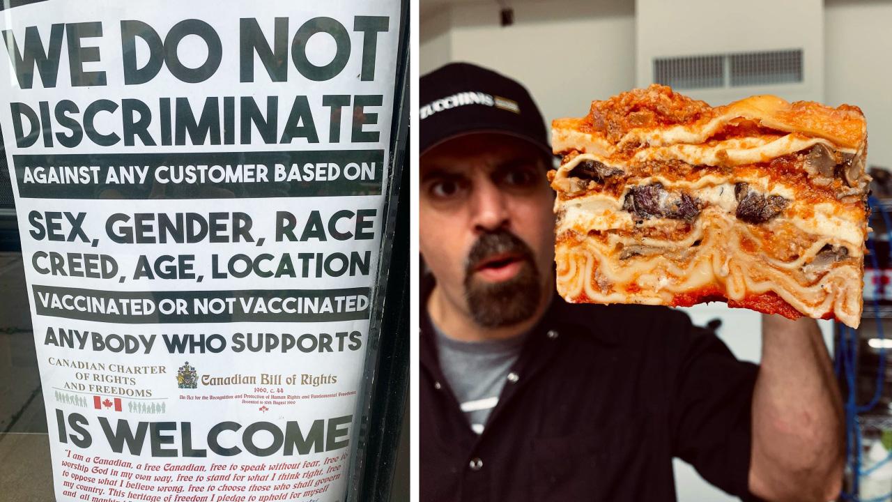 Oakville, Ontario restaurant announces it will serve unvaccinated indoors