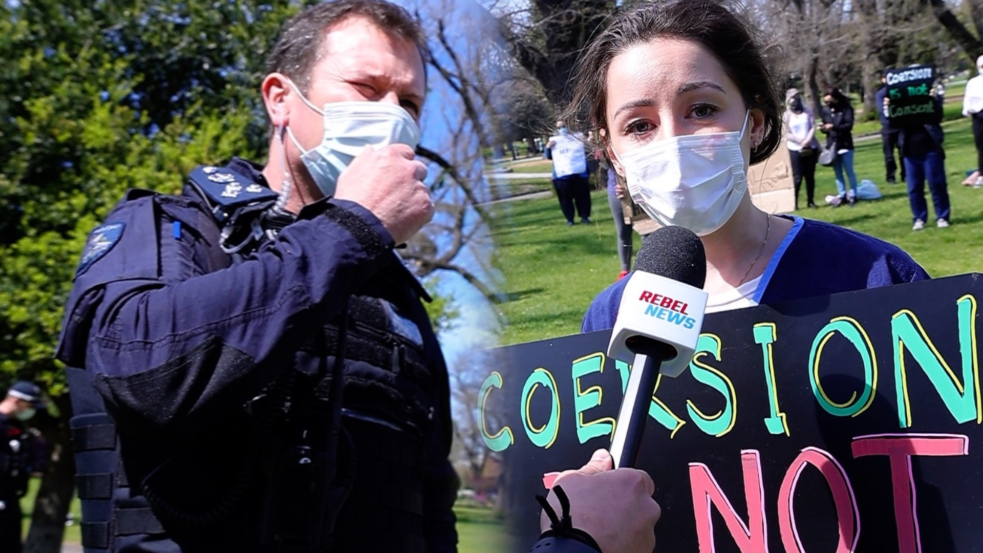 WATCH: Police move in to force HEALTHCARE WORKERS out of protesting in Melbourne