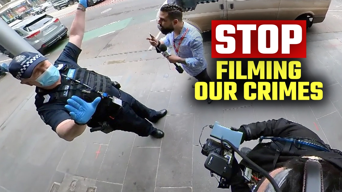 WATCH: Victoria Police try to BAN media from filming their violent conduct