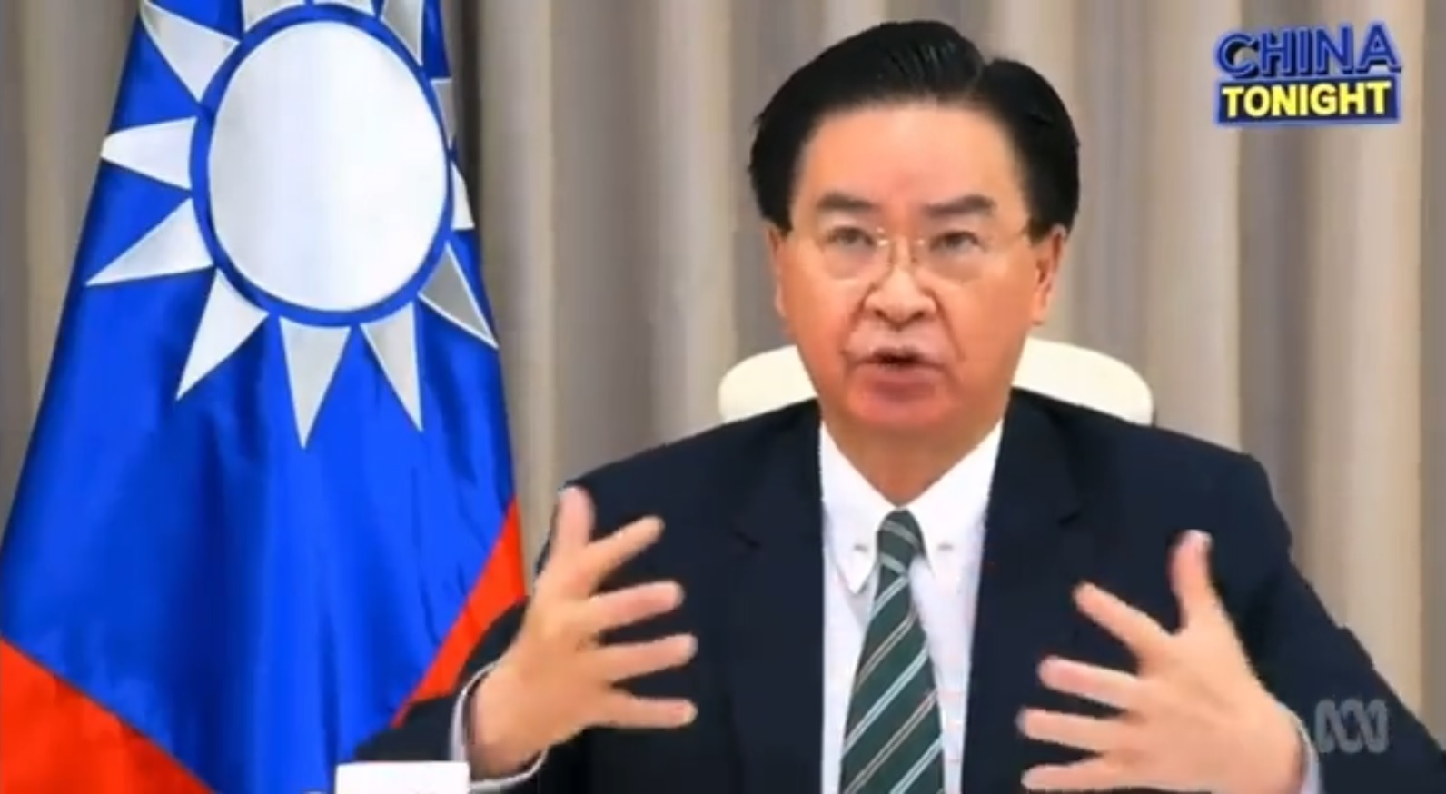 Taiwan foreign minister warns Australia of potential war with China