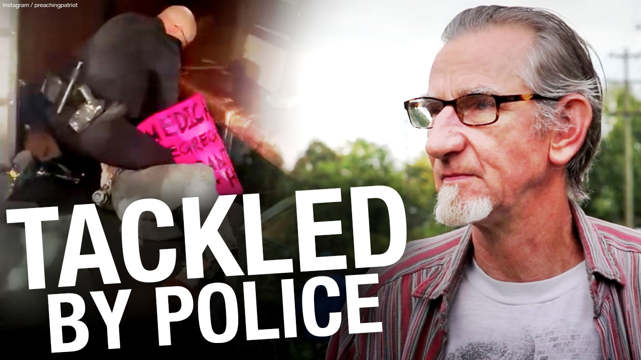 Senior citizen VIOLENTLY arrested for protest at Vancouver restaurant