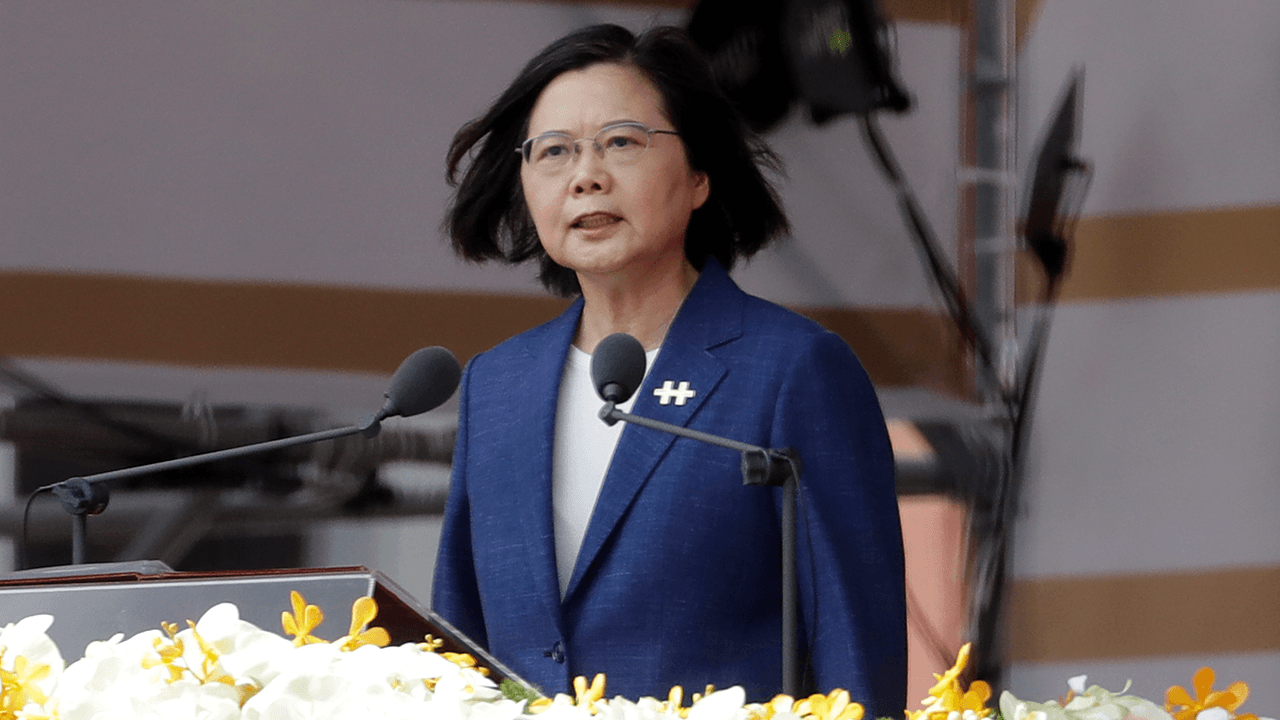 Taiwan president remains steadfast against China