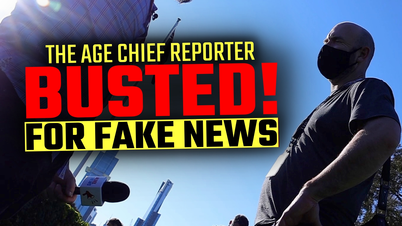 HIDDEN CAMERA: The Age Chief Reporter BUSTED for Fake News