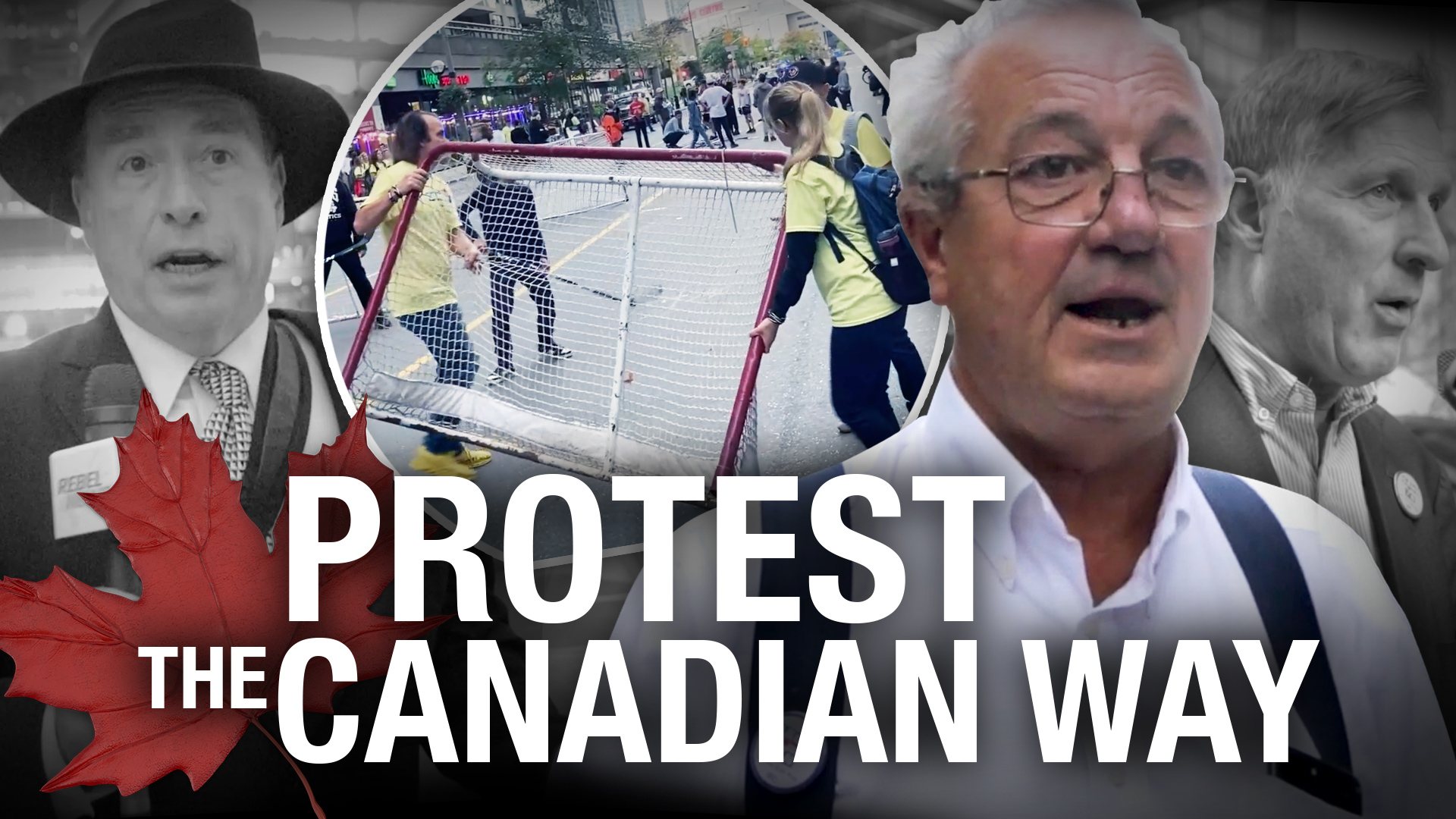 Pick-up hockey protest takes place outside Scotiabank Arena