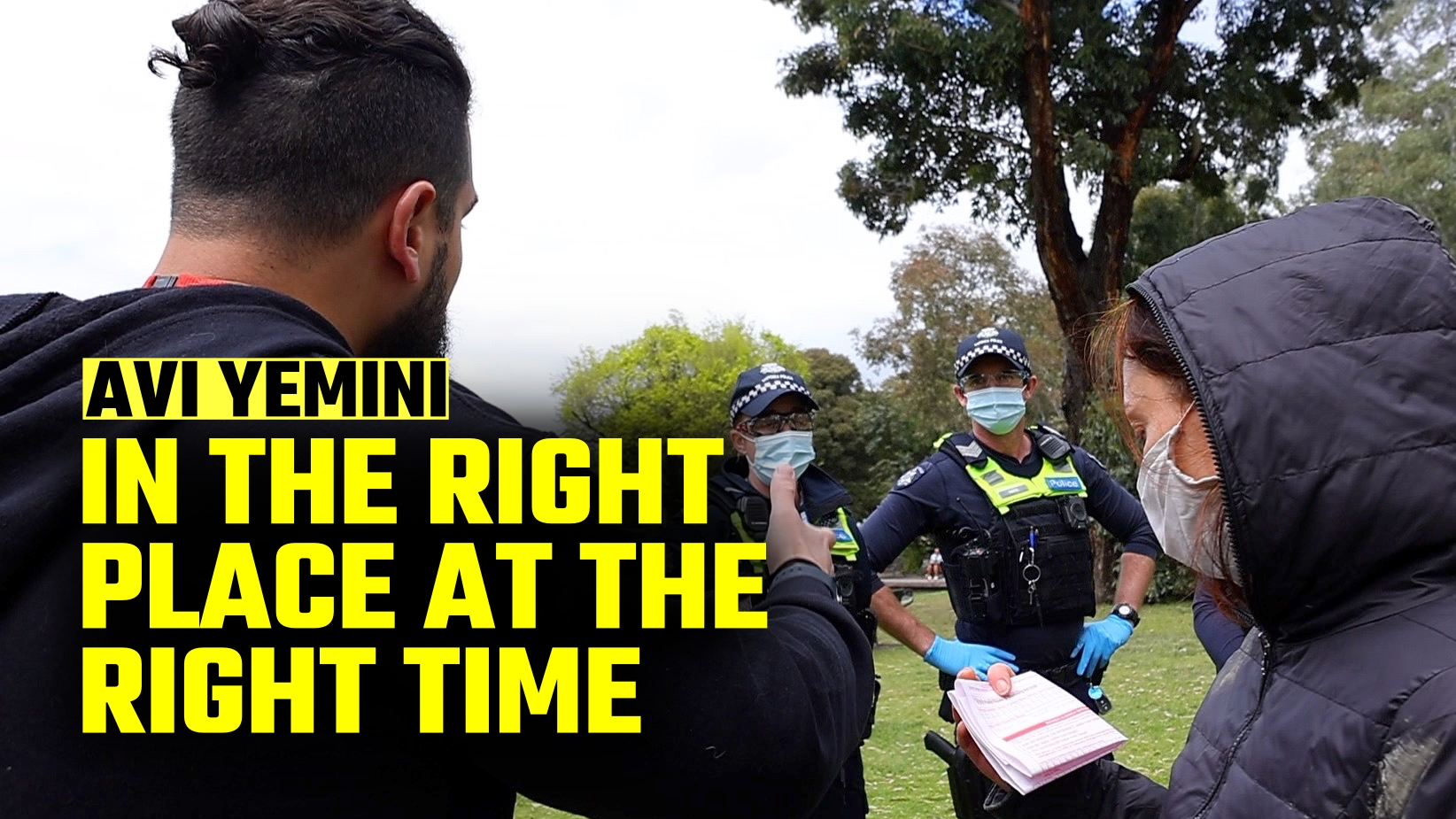 MUST WATCH: Avi Yemini steps in for woman violently arrested in Melbourne