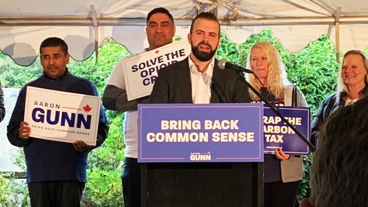 WATCH: Aaron Gunn's full speech announcing his run for B.C. Liberal leader