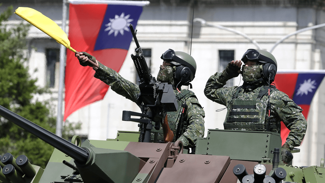 Taiwanese president warns of Chinese threat during National Day ceremony