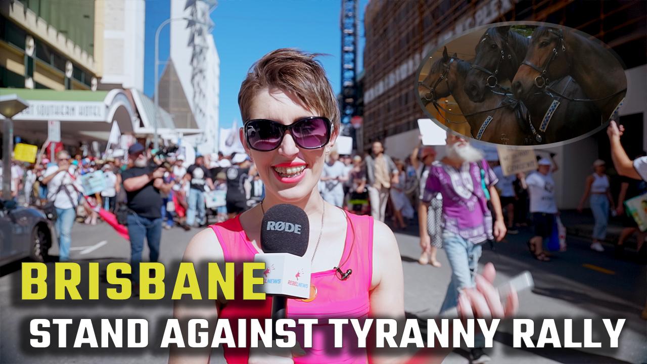WATCH: Brisbane rallies against the 'health tyranny'