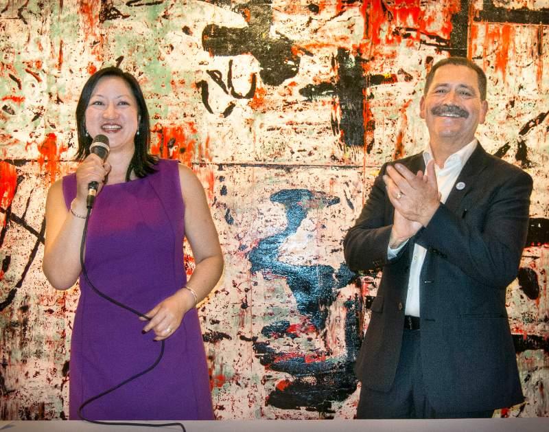 Theresa Mah and Chuy Garcia