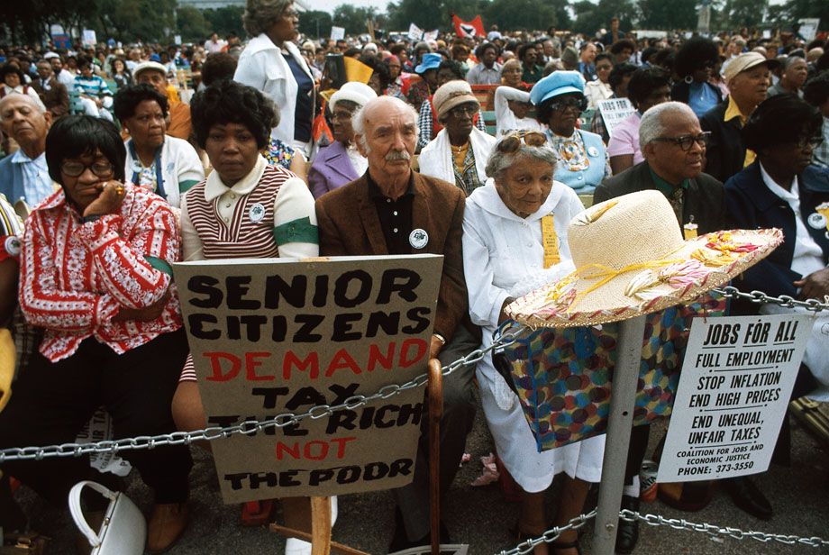 seniors march for housing equity