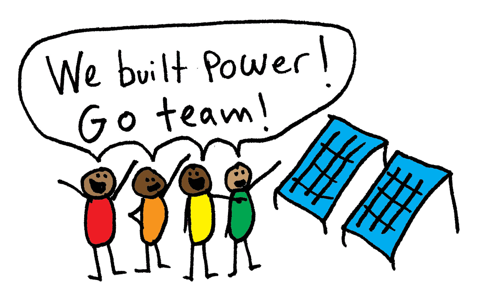 We build power cartoon