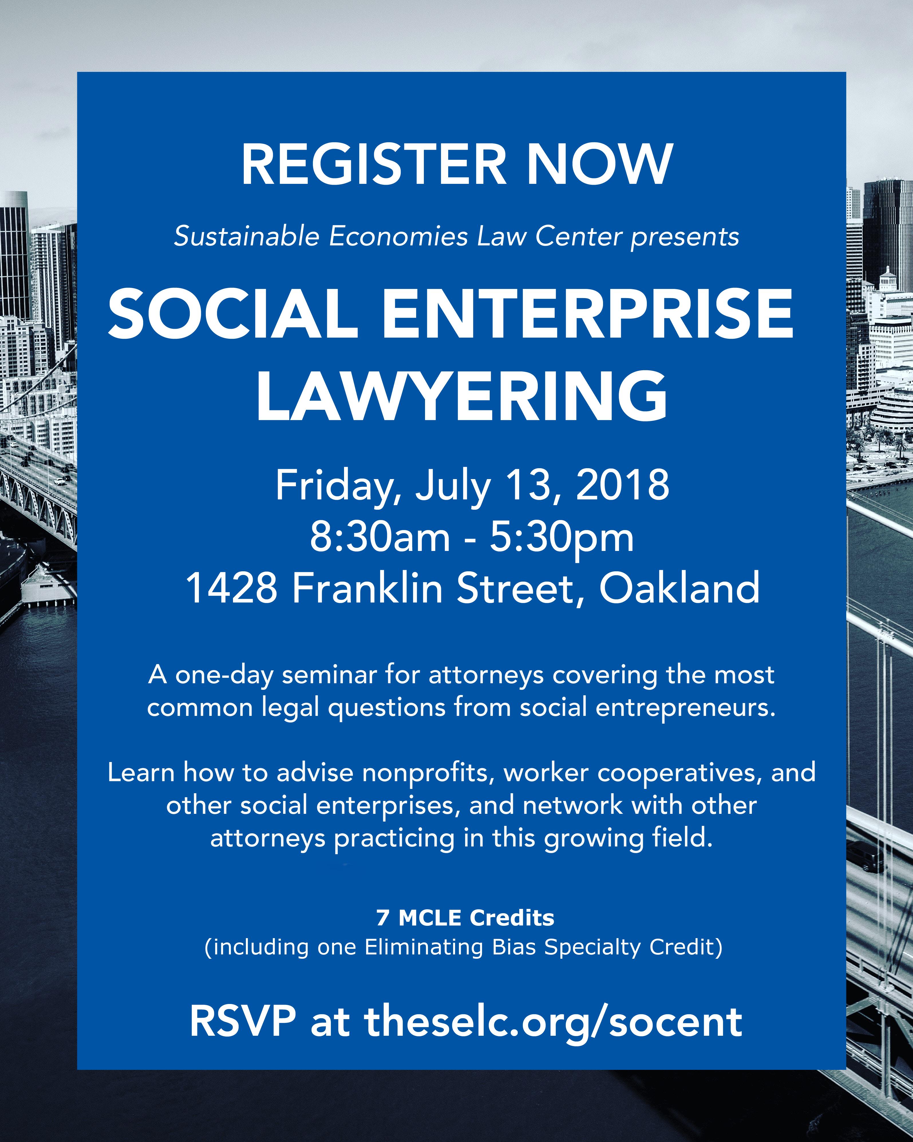 Register Now for the Social Enterprise Seminar!