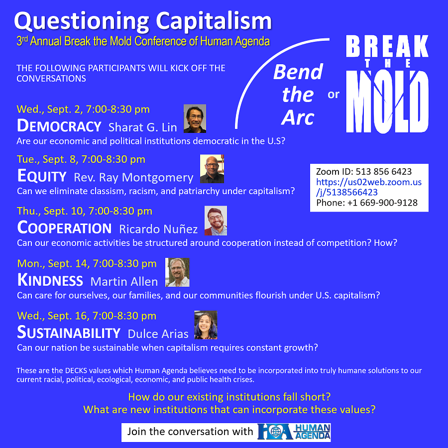 Questioning Capitalism Conference: bend the arc or break the mold?
