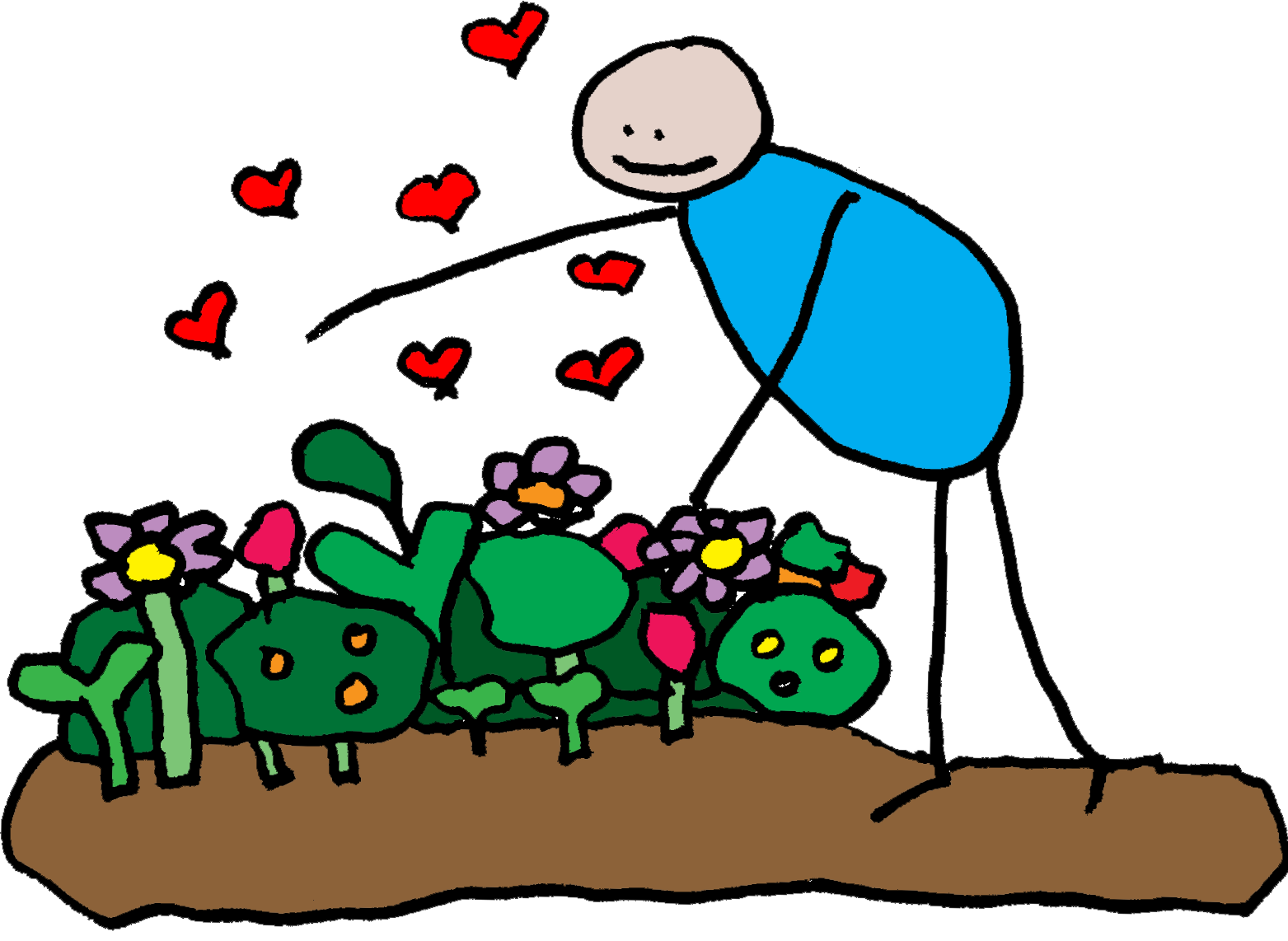 a person giving their garden love