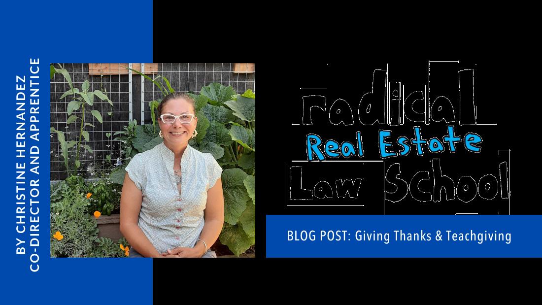 Giving Thanks and Teachgiving