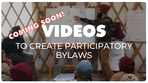 Click here for VIDEOS to create participatory bylaws