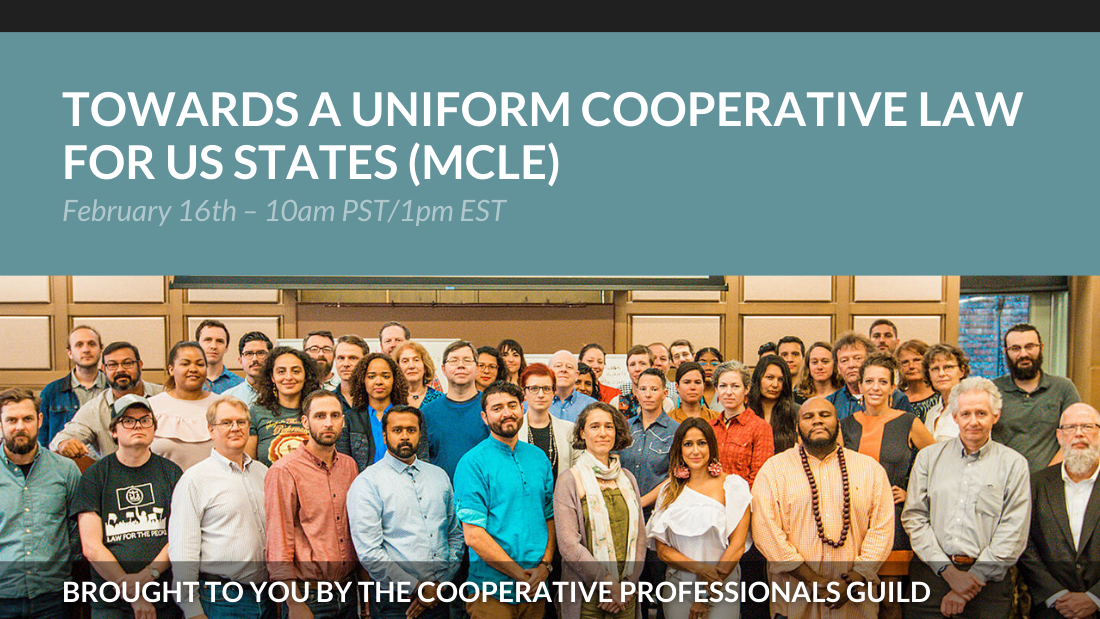 Towards a Uniform Cooperative Law for US States (MCLE)