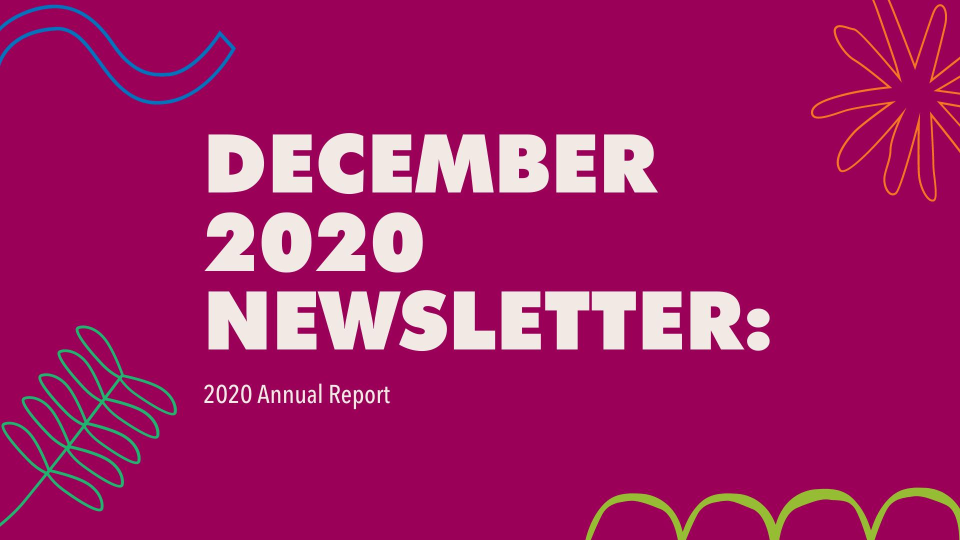 December 2020 newsletter banner