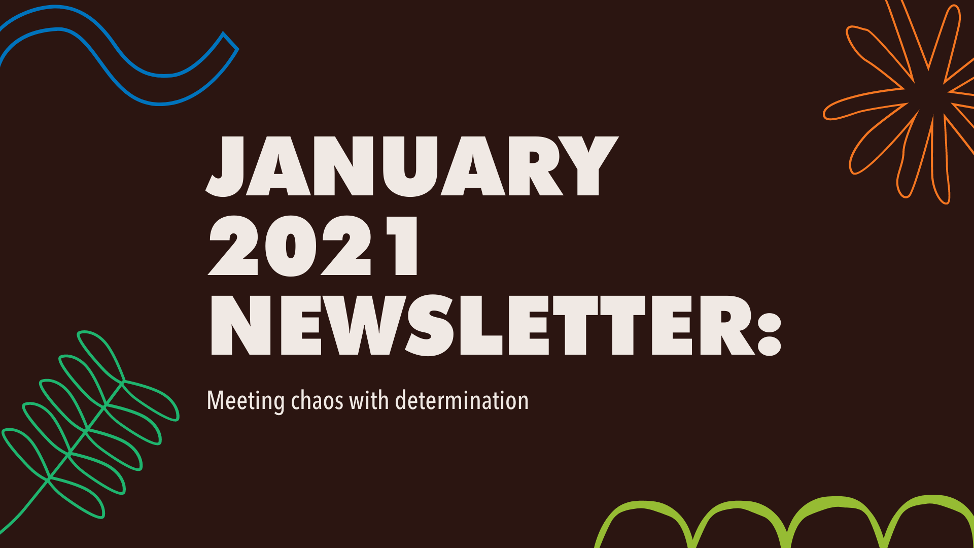 January 2021 Newsletter banner
