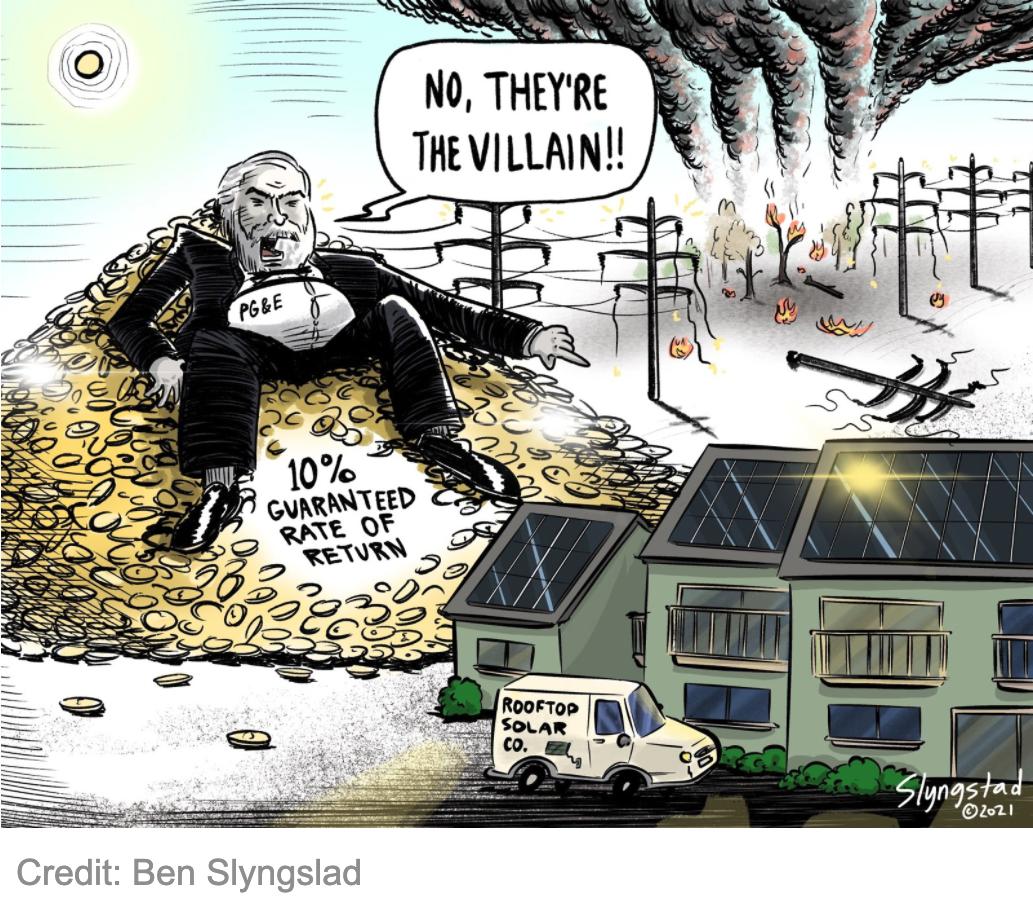 PG&E villan cartoon