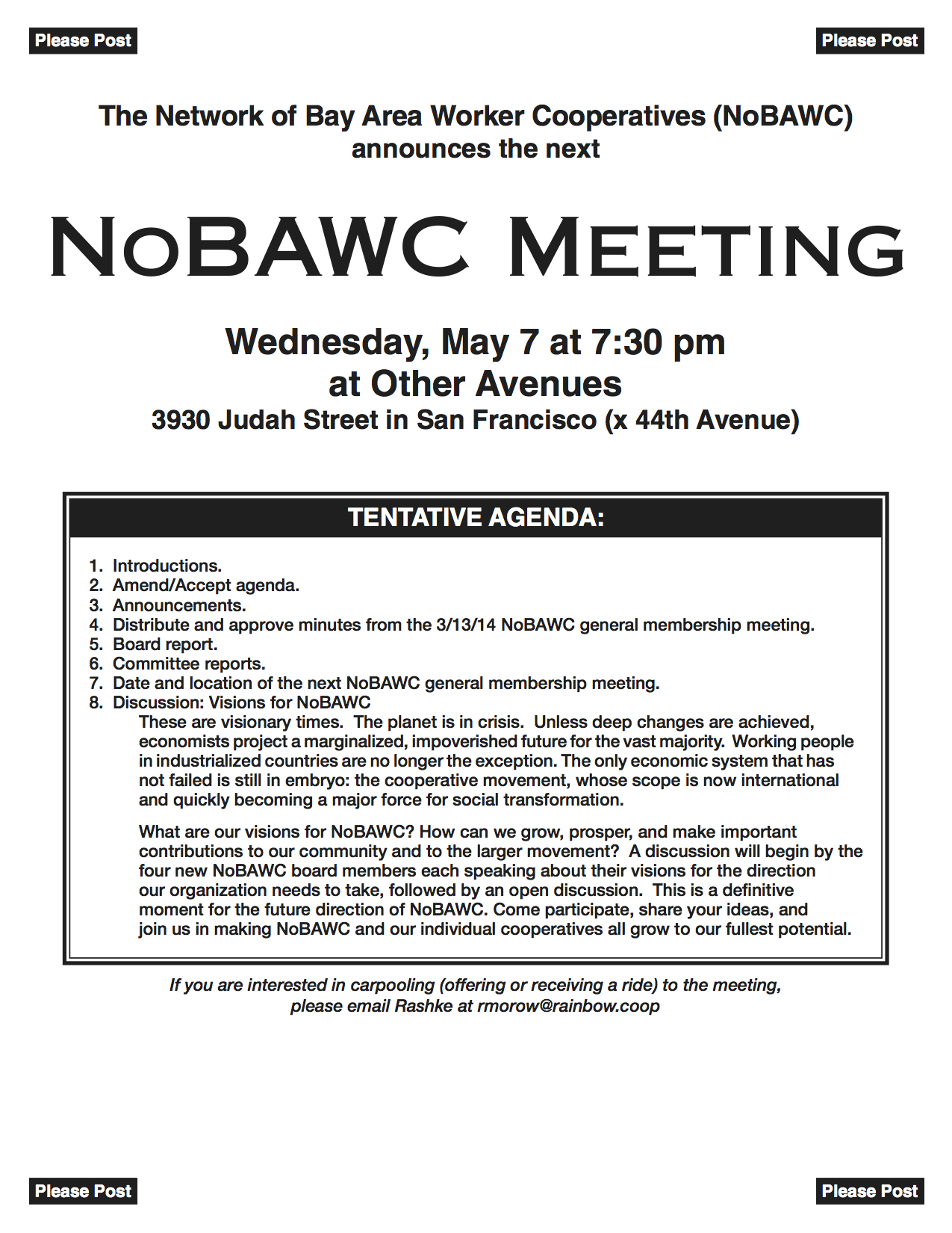 NoBAWC, say what?