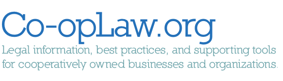 Find legal resources, including bylaws, operating agreements, and more, at Co-opLaw.org!
