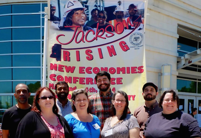 The Sustainable Economies Law Center, the United States Federation of Worker Cooperatives, the Democracy at Work Institute, Union Cab of Madison, WI, the East Bay Community Law Center, and CERO Cooperative and Jackson Rising in Jackson, Mississippi!