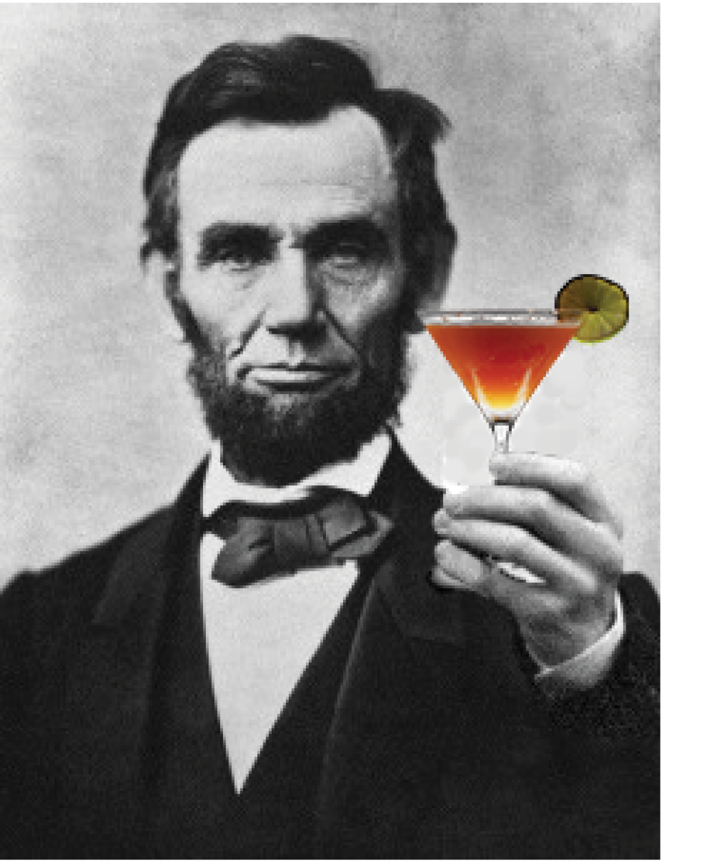 "Abe Lincoln asks, ""Don't you want to create community for more just and resilient economies? Then have a drink."""
