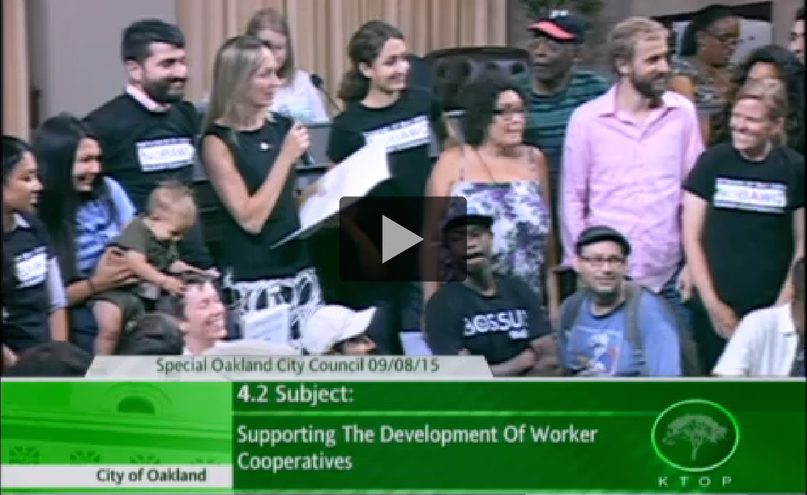 Video of Resolution Supporting the Development of Worker Cooperatives