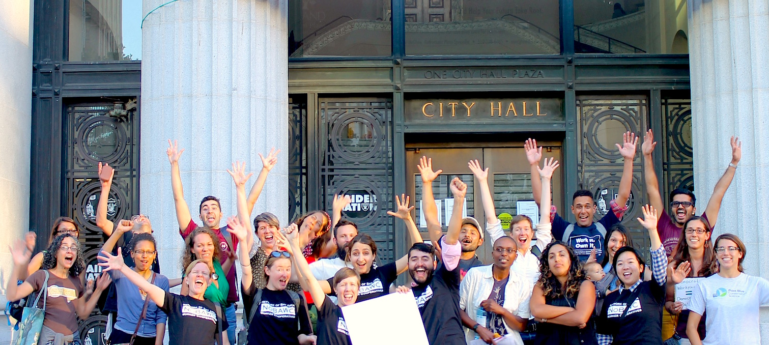 We done it before. We do it again! Pushing policies that promote worker cooperatives!