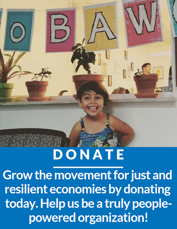 Support our movement for grassroots economic empowerment! Donate today!