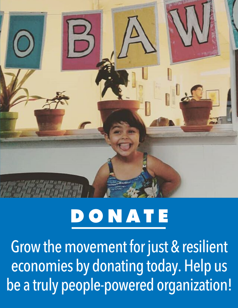 Donate to grow the movement for just and resilient economies