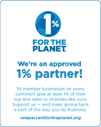 We are an approved partner of 1% For The Planet!