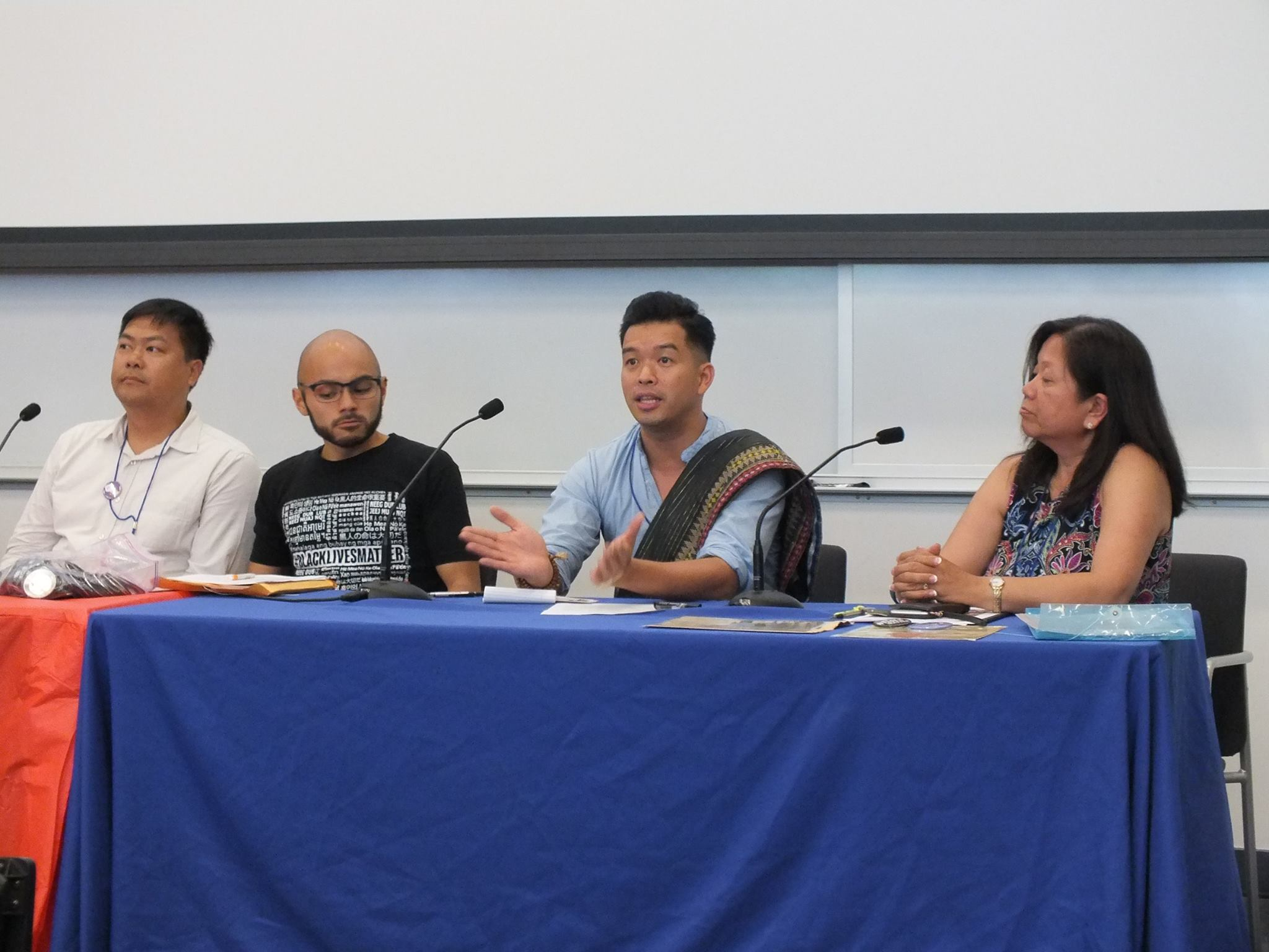 anelists speak on social justice activism in Filipino-American communities at the FANHS conference.