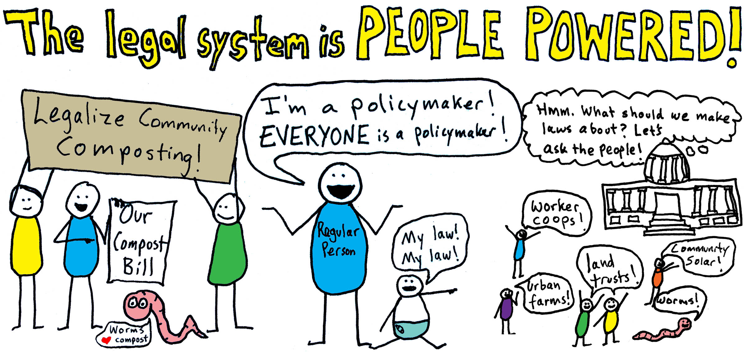 The legal system is people powered!