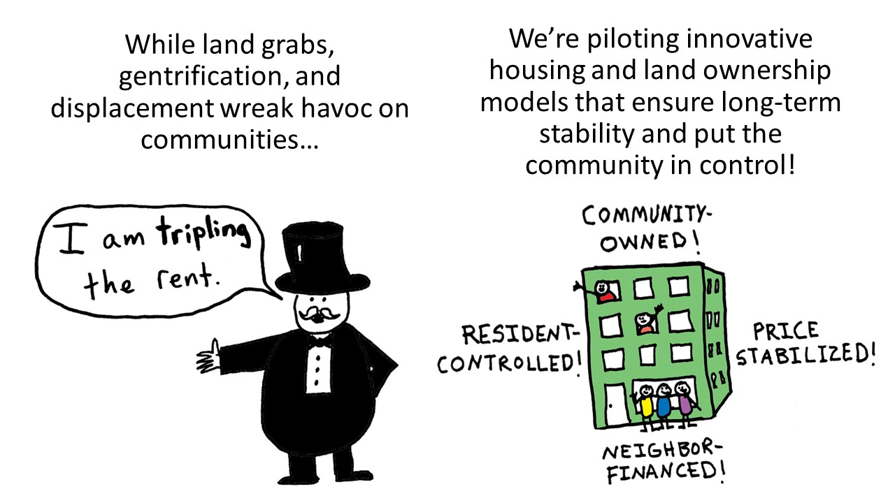 Land grabs, gentrification, and displacement is happening!