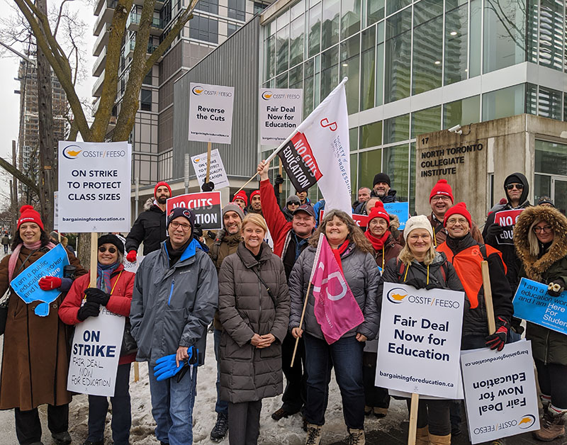Society of United Professionals supported teachers' picket line at North Toronto CI