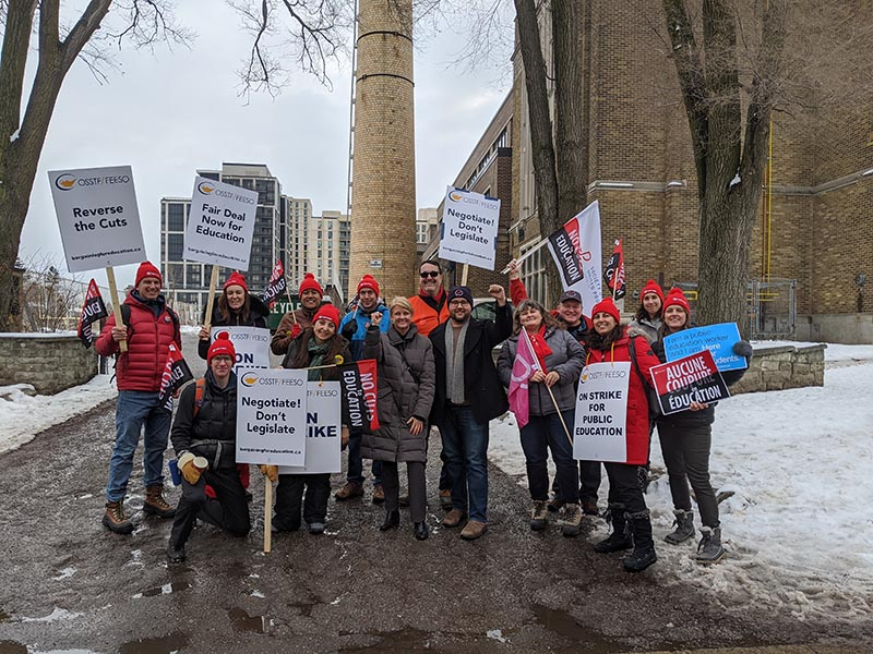Society of United Professionals supported OSSTF teachers on strike