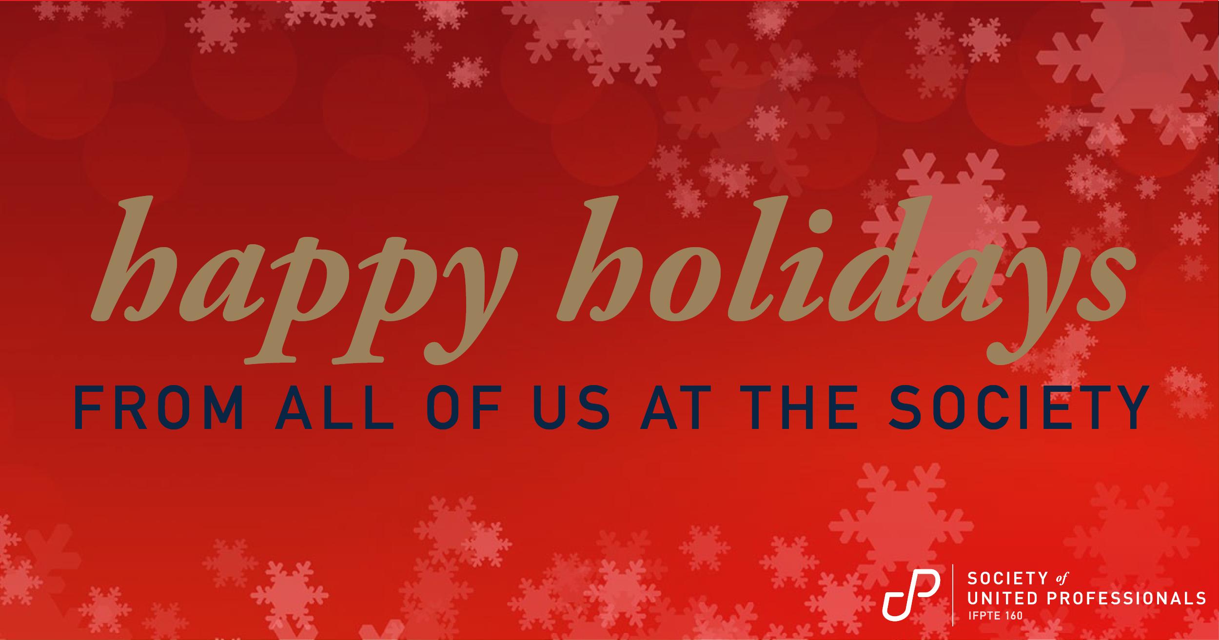 Happy Holidays from the Society