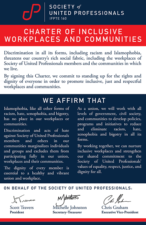 A picture of the Charter of Inclusive Workplaces and Communities