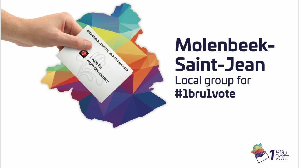 Logo 1BRU1VOTE Molenbeek