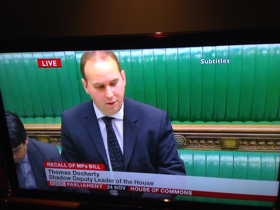 At the Despatch Box in the Commons.