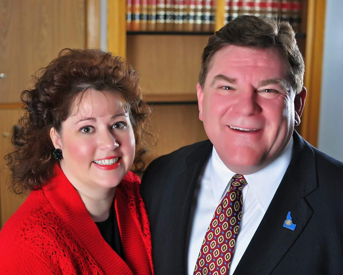Jeff Thompson and his wife