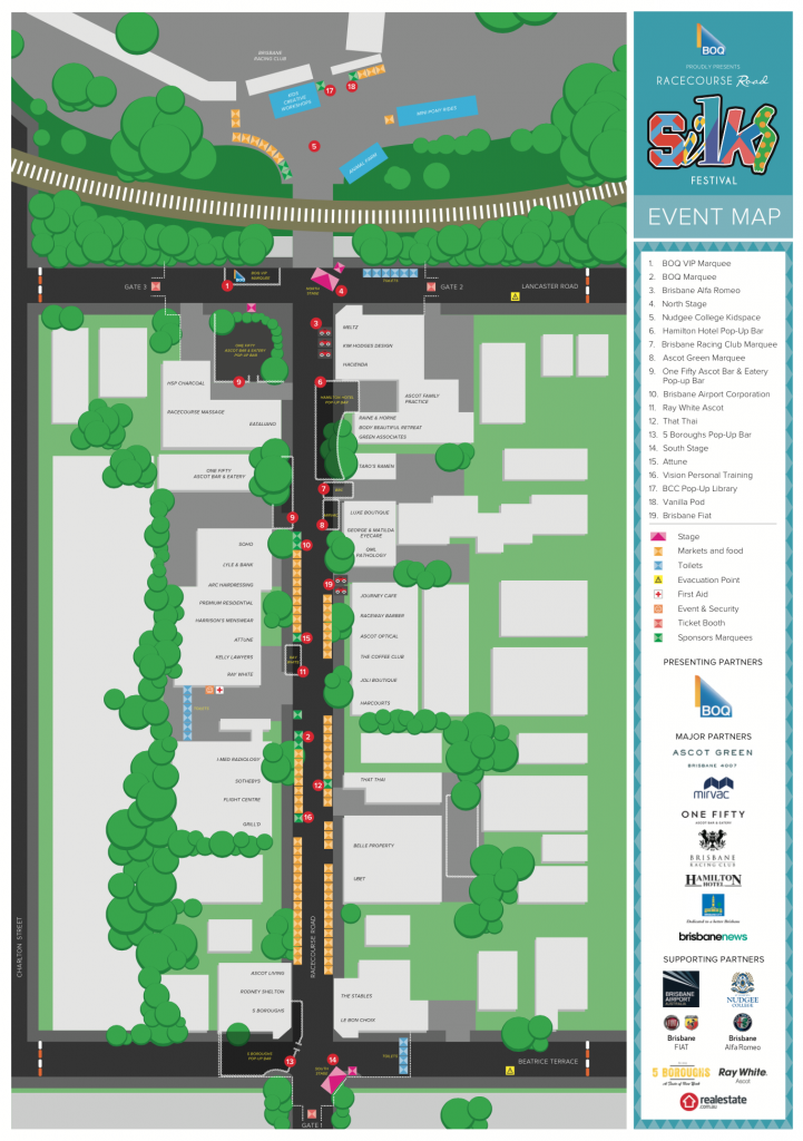 Racecourse Rd Silks Festival Map