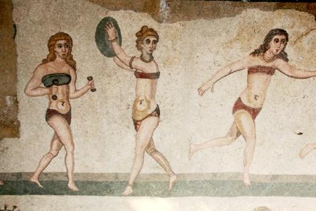 fresco de villa tardorromana siciliana