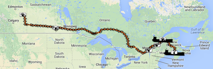 Map of energy east pipeline